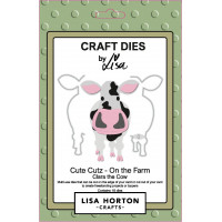 Lisa Horton Crafts - Cute Cutz - On the Farm - Clara the Cow Die Set