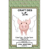 Lisa Horton Crafts - Cute Cutz - On the Farm - Peggy the Pig Die Set