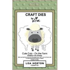 Lisa Horton Crafts - Cute Cutz - On the Farm - Sheldon the Sheep Die Set