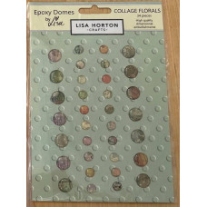 Lisa Horton Crafts - Collage Florals Pack of Epoxy Domes
