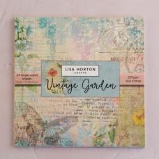 Lisa Horton Crafts - Vintage Garden 8x8 Paper Pad