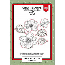 Lisa Horton Crafts - Christmas Rose Stamp and Coordinating Die Set