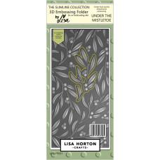 Lisa Horton Crafts - Mistletoe Slimline 3D Embossing Folder with Cutting Die