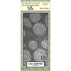Lisa Horton Crafts - Pine Cones Slimline 3D Embossing Folder