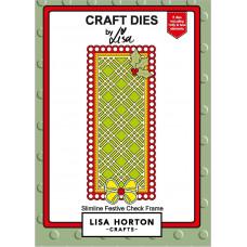 Lisa Horton Crafts - Festive Slimline Checked Frame Die