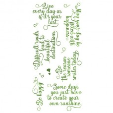 Lisa Horton Crafts - DL Stamps - Just Saying Be Happy Phrases Set