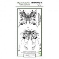 Lisa Horton Crafts - Majestic Butterflies DL Stamp Set
