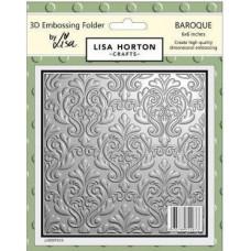 Lisa Horton Crafts - 3D Embossing Folder - Baroque