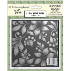 Lisa Horton Crafts - 3D Embossing Folder - Budding Bloom