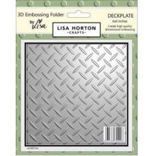 Lisa Horton Crafts - 3D Embossing Folder - Deckplate