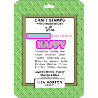 Lisa Horton Crafts - Layered Words - Happy Stamps & Dies Set