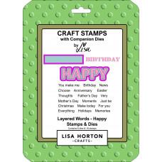 Lisa Horton Crafts - Layered Words - Happy Stamps & Dies Set
