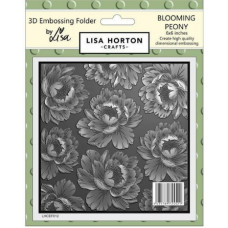 Lisa Horton Crafts - 3D Embossing Folder - Blooming Peony - DISPATCHING WEDNESDAY 14th APRIL