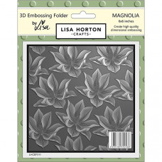 Lisa Horton Crafts - 3D Embossing Folder - Magnolia