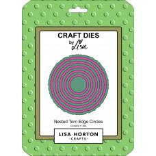 Lisa Horton Crafts - Nested Torn Edge Circles Die Set