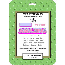 Lisa Horton Crafts - Layered Words - You're Amazing Stamps & Dies Set