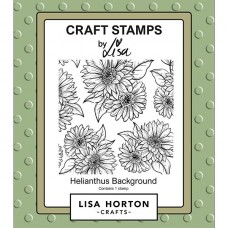 Lisa Horton Crafts - Helianthus Background Stamp