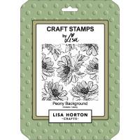Lisa Horton Crafts - Peony Background Stamp