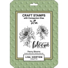 Lisa Horton Crafts - Peony Blooms Die and Stamp Combo