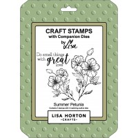 Lisa Horton Crafts - Summer Petunia Stamp and Die Combo