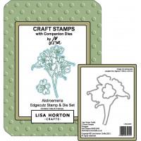 Lisa Horton Crafts - Alstroemeria EdgeCutz Stamp and Die Set