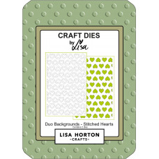 Lisa Horton Crafts - Duo Backgrounds - Stitched Hearts Die Set