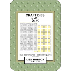 Lisa Horton Crafts - Duo Backgrounds - Stitched Squares Die Set