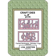 Lisa Horton Crafts - Framed Sentiment Birthday/Hugs Die Set