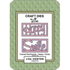 Lisa Horton Crafts - Framed Sentiment Happy/Smile Die Set