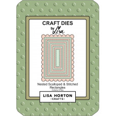 Lisa Horton Crafts - Nested Scalloped & Stitched Rectangle Die Set
