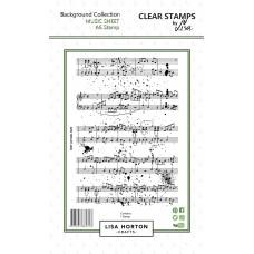 Lisa Horton Crafts - Music Sheet A6 Stamp Set