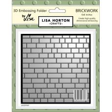 Lisa Horton Crafts - 3D Embossing Folder - Brickwork