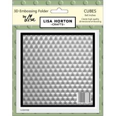 Lisa Horton Crafts - 3D Embossing Folder - Cubes