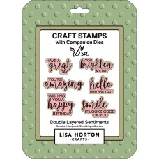 Lisa Horton Crafts - Double Layered Sentiments Stamp and Die Set