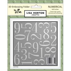 Lisa Horton Crafts - 3D Embossing Folder - Numerical