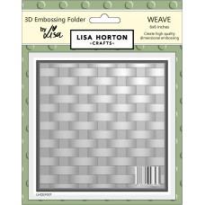 Lisa Horton Crafts - 3D Embossing Folder - Weave