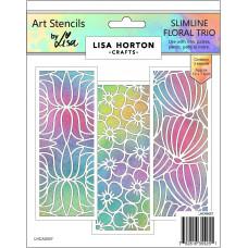 Lisa Horton Crafts - Slimline Floral Trio Stencil Set