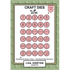 Lisa Horton Crafts - Scalloped Alpha Dots – Numbers/Sentiments