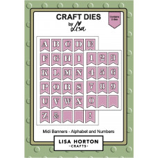 Lisa Horton Crafts - Midi Banners, Alphabet and Number Dies