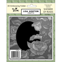 Lisa Horton Crafts - Shower Of Roses 3D Embossing Folder with Die