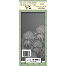 Lisa Horton Crafts - Coneflower Meadow 3D Slimline Embossing Folder