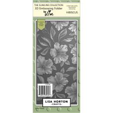 Lisa Horton Crafts - Hibiscus 3D Slimline Embossing Folder with Die