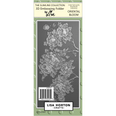 Lisa Horton Crafts - Oriental Bloom 3D Slimline Embossing Folder