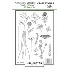Lisa Horton Crafts - Florals Stamp and Die Bundle - DISPATCHING WEDNESDAY 28th OCTOBER