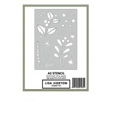 Lisa Horton Crafts - Festive Foliage A5 Stencil