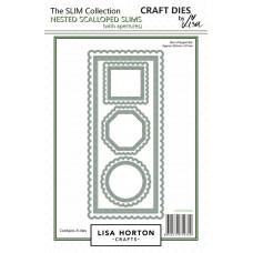 Lisa Horton Crafts - Scalloped Edge Slims Die Set