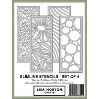 Lisa Horton Crafts - Slimline Stencils - Pack of 4