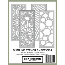 Lisa Horton Crafts - Slimline Stencils - Pack of 4 - DISPATCHING WEDNESDAY 21st OCTOBER