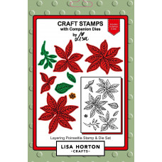 Lisa Horton Crafts - Layering Poinsettia Stamp and Die Set