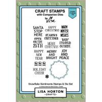 Lisa Horton Crafts - Snowflake Sentiments Stamp & Die Set
